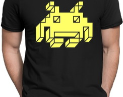 Camiseta Preta Space Invaders