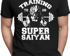 Camiseta Preta Dragon Ball Z Goku Training