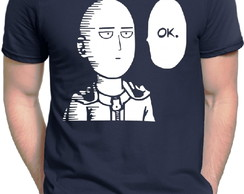Camiseta Azul Marinho One Punch Man