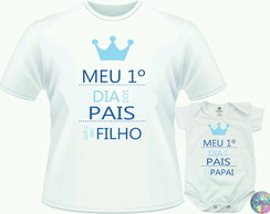 kit Camiseta com Body Dia dos Pais
