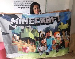 Anner Painel festa decorativo mine craft