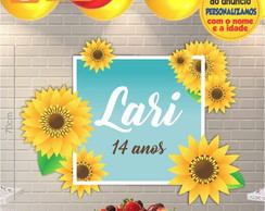 Painel MDF Floral Girassol 001