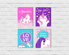 Kit de Quadros Unicornio Baby