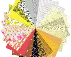 Kit Tecidos Multicolorido 3 #24 25x35cm Patch Costura Artes