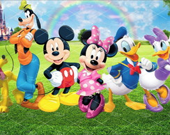 Painel Sublimado Turma do Mickey 2,5x1,5m