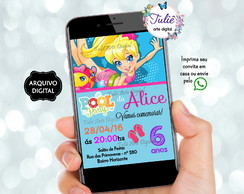 Convite Polly Pocket | Arte Digital
