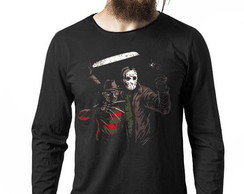 Camiseta Manga Longa Jason and Freddy cod920