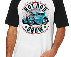 Camiseta Raglan Blusa Camisa Unissex Hot Rod Carro Antigo