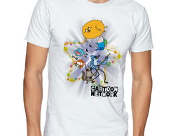 Camiseta Raglan Blusa Camisa Unissex Cartoon Network Persona