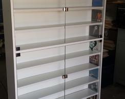 Estante De Vidro Temperado : Estante para cds ou dvds com portas de vidro temperado no elo7 cms