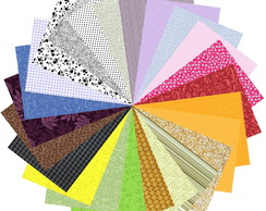Kit Tecidos Patchwork Decoracao Multicolor 5 #24 25cm x 35cm