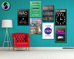 Placa Decorativa MDF - Frases