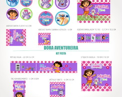Kit festa digital Dora Aventureira
