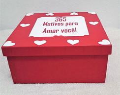 Caixa Romântica Com 365 Frases Românticas Elo7