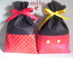 Kit 40 Sacolas Minnie e Mickey