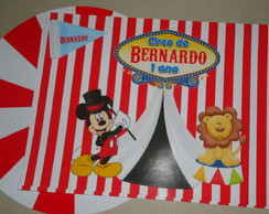 Rótulos Lata de Leite Tenda Circo do Mickey*Kit800