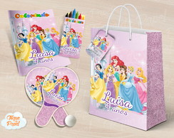 Kit Ping Pong + kit colorir Princesas Disney