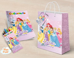 Livrinho colorir Princesas Disney
