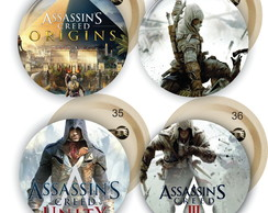 Bottons Personalizado 4,5cm Assassin's Creed botons pins
