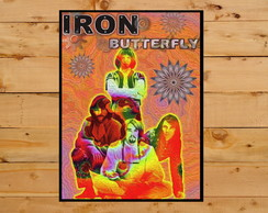 Quadro Decorativo Iron Butterfly In A Gadda Da Vida 30x42cm