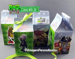 Plants vs Zombie Caixa Milk 3D
