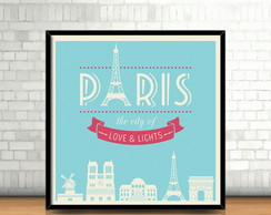 Quadro Paris Love & Lights