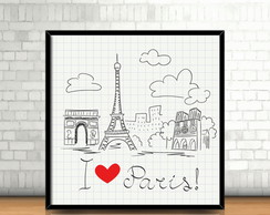 Quadro I Love Paris