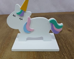 unicornio base mdf decorado