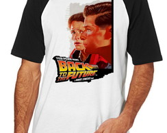 Camiseta Raglan Blusa De volta para o futuro Back the Future