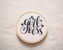 Girl Boss - Quadro bordado