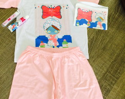 kit festa do pijama spa necessaire e kit dental
