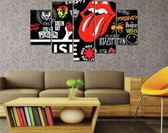 Quadro Mosaico Decorativo Rock N Roll