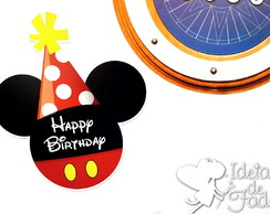 Imã Disney Cruise Headfun Happy Birthday