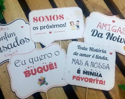 Plaquinhas Divertidas COM 25 PLACAS