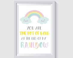 ARTE DIGITAL PARA POSTER/QUADRO - YOU ARE THE POT OF GOLD