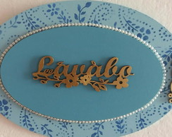 Placa decorativa lavabo