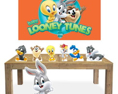 Kit 7 Enfeites Totem Display para Festa Looney Tunes