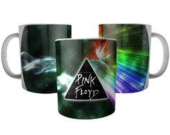 Caneca Banda Pink Floyd Dark Side Of The Moon Espectro Luz