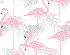 Papel de Parede Flamingos Decor 01