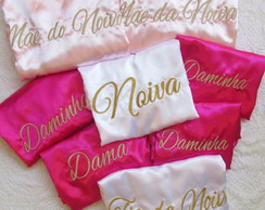 Kit 8 Robes Personalizados (incluso 1 com Renda)