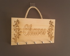 Porta Chaves CHAVES FLORES -PRESENTE - DIFERENTE
