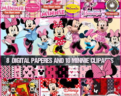 Kit digital Minnie rosa e vermelha