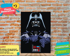 Placa Decorativa - DARTH VADER - REF0534