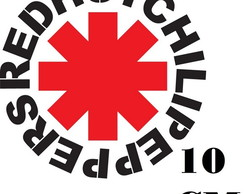 Adesivo Logo Red Hot Chili Peppers Punk Rock Frete Grátis