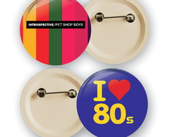 botons bottons buttons personalizados anos 80 2,5cm