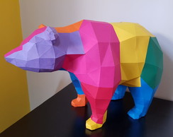 Urso color Mdecor - Papercraft