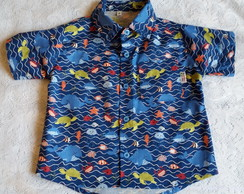 Camisa Infantil Fundo do Mar ou Surfista