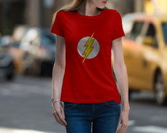 Camisas baby look feminina The Flash malha PV
