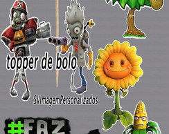 Topper de Bolo Plants vs Zombie Garden Warfare