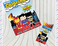 Kit Colorir Super Herois
